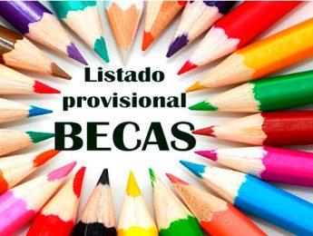 Imagen de la noticia Listados provisionales de becas concedidas para el curso 2016-2017