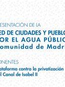 Imagen de la noticia Ciudades y Pueblos por el Agua Pública