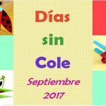 Imagen de la noticia Días sin Cole en septiembre