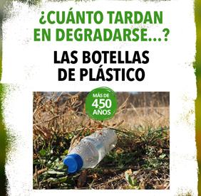 Imagen de la noticia 1 botella de plástico tarda 450 años en degradarse