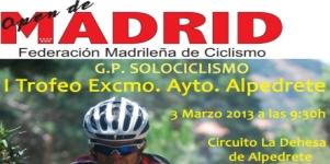 Imagen de la noticia I Trofeo Ayuntamiento de Alpedrete de Ciclismo MTB XC
