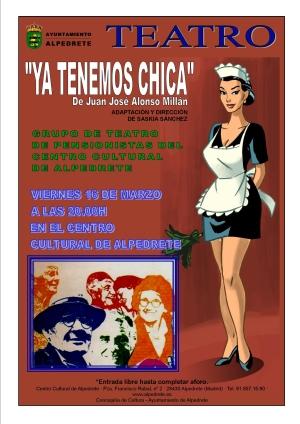 Imagen de la noticia «Ya tenemos chica», el viernes 16 de marzo en el Centro Cultural