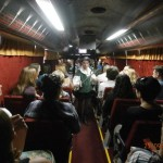 Representación de Don Quijote en el Teatro Bus