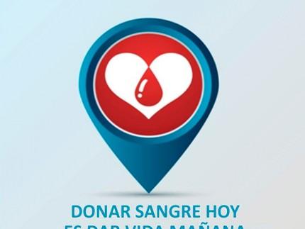Cartel anunciador Maratón donación de sangre