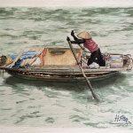 Pintura de Elena Herrero, barca