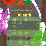 Cartel de Girando por plazas con la programación del 30 de abril