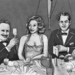 "Dibujo del story board de ""La reina de España"""