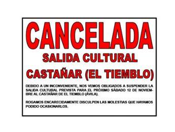 Imagen de la noticia Cancelada la salida familiar al Castañar de El Tiemblo