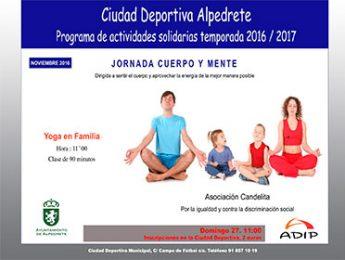 Imagen de la noticia Yoga solidario para practicar en familia