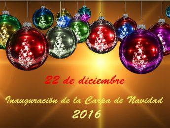 Imagen de la noticia Inauguración de la carpa de Navidad