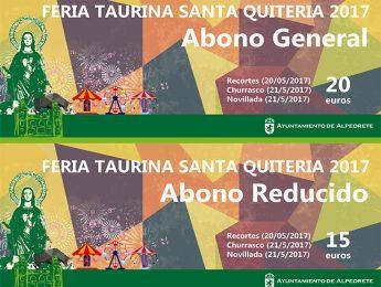Imagen de la noticia A la venta los abonos de Feria Taurina Santa Quiteria 2017