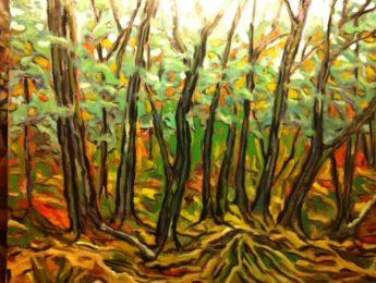 Imagen de la noticia «Trozos del Bosque». Exposición de Arturo Cruzado