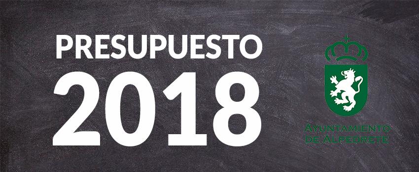 Imagen de la noticia Convocado el Pleno de aprobación inicial del Presupuesto Municipal 2018