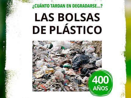 Imagen de la noticia 1 bolsa de plástico tarda en degradarse 400 años