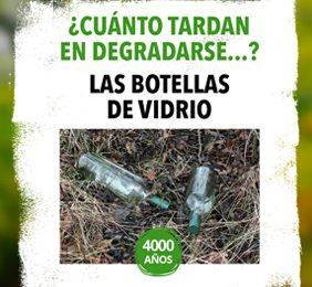 Imagen de la noticia 1 botella de vidrio tarda 4000 años en degradarse. Alpedrete recogió 201.195 kg en 2017