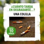 Imagen de la noticia 1 colilla de cigarrillo tarda en degradarse 10 años
