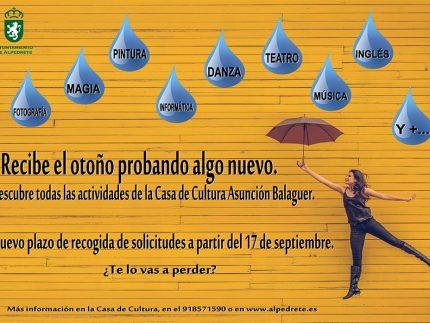 Imagen de la noticia Casa de Cultura, nuevas matrículas