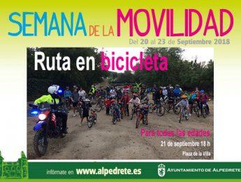 Imagen de la noticia Ruta en bicicleta. Semana de la Movilidad