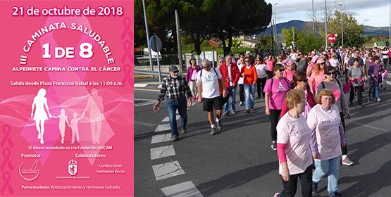 """Imagen de la noticia III Caminata saludable contra el cáncer: """"1 de 8"""""""