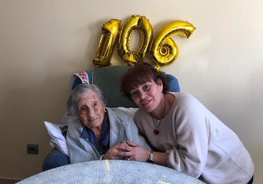 Imagen de la noticia Irene, 106 años. La vecina más longeva