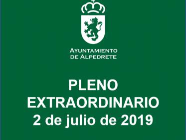 Imagen de la noticia Convocatoria Pleno extraordinario de julio 2019