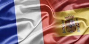 Bandera de francia y españa