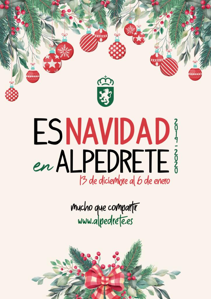 Cartel Es Navidad en Alpedrete