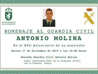 Imagen de la noticia Homenaje al guardia civil Antonio Molina