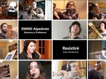 Imagen de la noticia «Resistiré» por alumnos y profesores de la EEMD