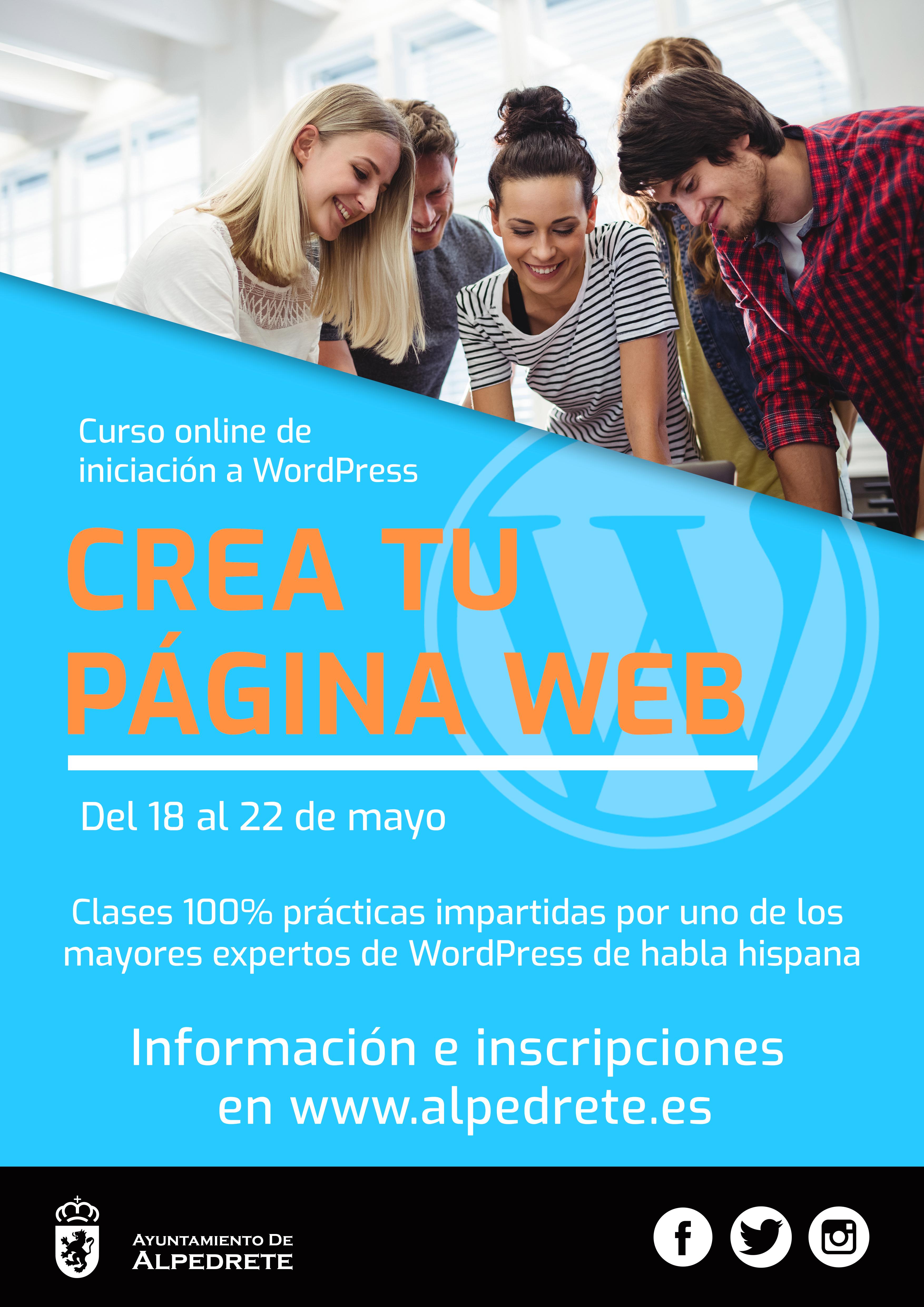 Imagen de la noticia Curso creación de web profesional con WordPress