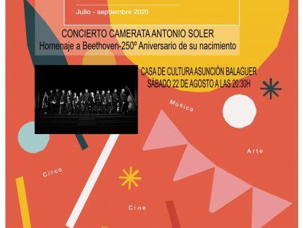 Imagen de la noticia Concierto Camerata Antonio Soler «Homenaje a Beethoven – 250 aniversario de su nacimiento»