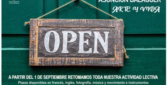 Imagen de la noticia La Casa de Cultura Asunción Balaguer reinicia sus clases el 1 de septiembre