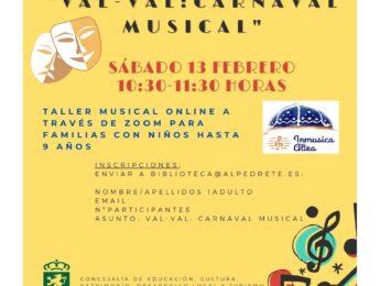 Imagen de la noticia Taller 'Val-Val carnaval musical'