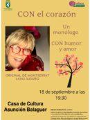 Imagen de la noticia «CON el corazón», un monólogo de Montserrat Lajas